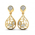 Poire Diamond Drop Earring