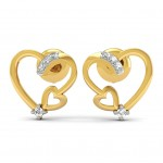 Bita Diamond Hearts Stud