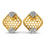 Honeycomb Diamond Studs