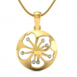 Floral Cut-Out Pendant
