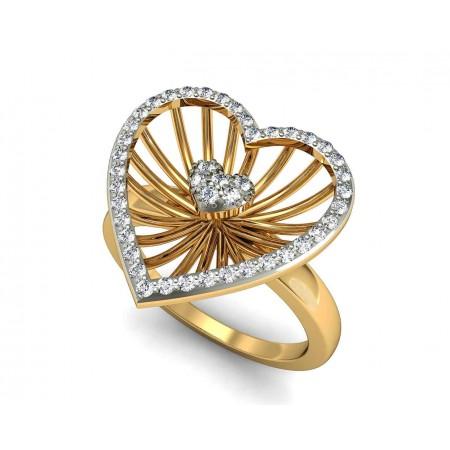 Heart in Heart Ring