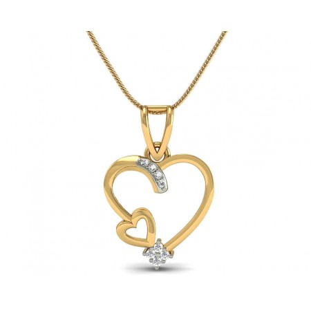 Bita Diamond Hearts Pendant