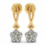 Diamond Floral Drop Earring