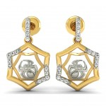 Spider Web Diamond Earring