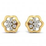 Lilac Diamond Studs