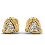 Knot sizer diamond earring