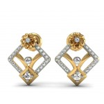 Ideal Floral Diamond Studs