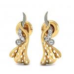 Cut Infinity Stud Earring