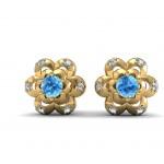 Gem Floral Stud Earring
