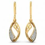 Diamond Shell Drop Earring