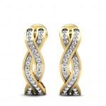 Braid Diamond Hoops
