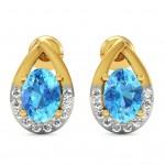 Confetti Swiss Blue Earring