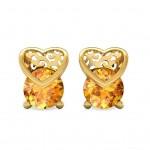 Heart Flame Stud Earring