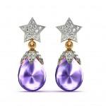 Brinjal Star Drop Earring