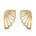 Hollow Wings Gold Stud