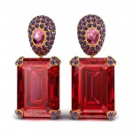 Red Spinel Earring