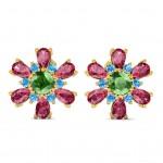 Flower Star Studs Earring