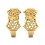 Graceful Gold J Hoops