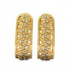 Dazzling J Hoop Earrings