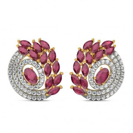 Crown Leaf Earring