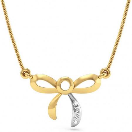 Bow knot Diamond Pendant