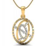 Tri Oval Diamond Pendant