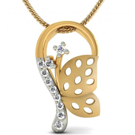 Butterfly Diamond Pendant