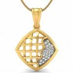 Criss Cross Diamond Pendant