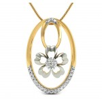 Diamond Belinda Floral Pendant