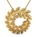 Flawless Gold Leafs Pendant