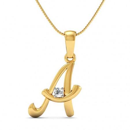 Alphabet A Pendant