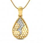 Diamond Flame Drop Pendant