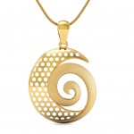 Spiral Gold pendant