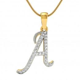 Alphabet pendants for men best price 2018rasav jewels alphabet a diamond pendant aloadofball Image collections