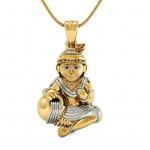 Bal Gopal Gold Pendant