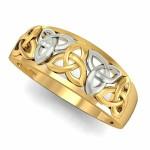 Celtic Knot Hazy Engagement Rings