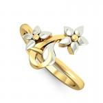 Twin Floris Gold Ring