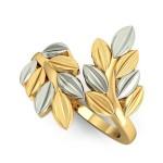 Dueling Dusky Leaf Ring