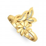 Regarded Floral Ring